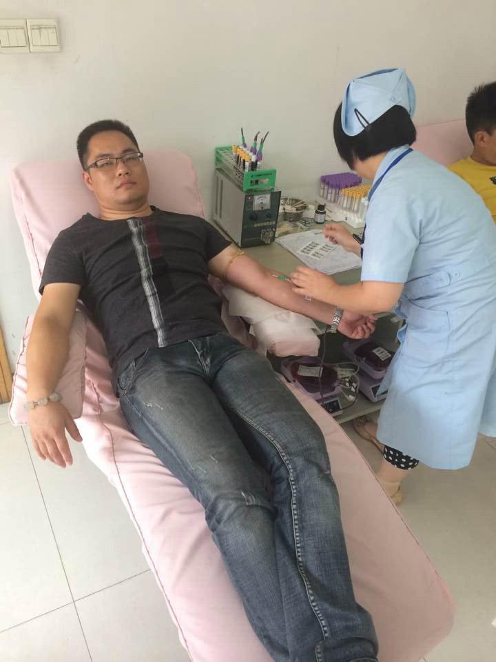 组织员工义务献血